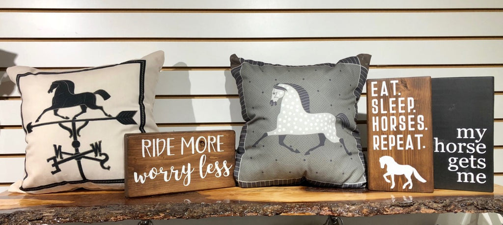 Kelley & Co. Horse Weathervane Throw Pillow