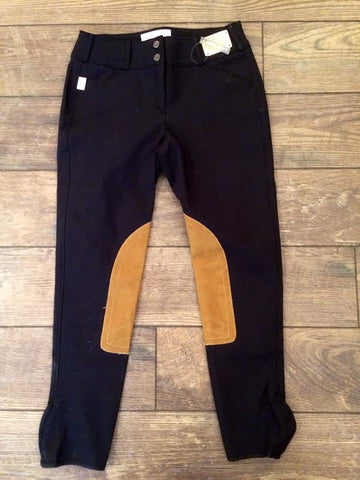 Tailored Sportsman Trophy Low Rise Front Zip Black & Tan