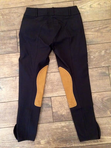 Tailored Sportsman Trophy Low Rise Front Zip Black & Tan Patch
