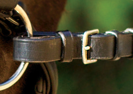 SHIRES BUCKLE SOFT BLACK RUBBER GRIP REINS