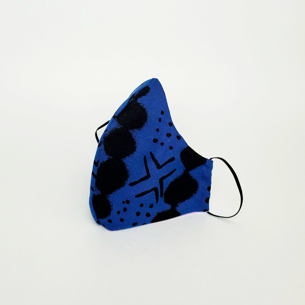 Fabric Face Mask- Blue Tribal Print