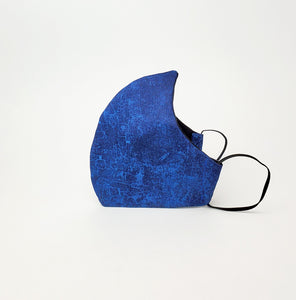 Fabric Face Mask- Blue Crackled Print