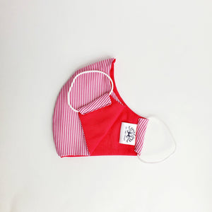 Fabric Face Mask- Pink Stripes
