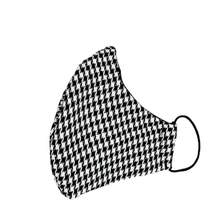 Load image into Gallery viewer, Wool Face Mask: Black & White Houndstooth