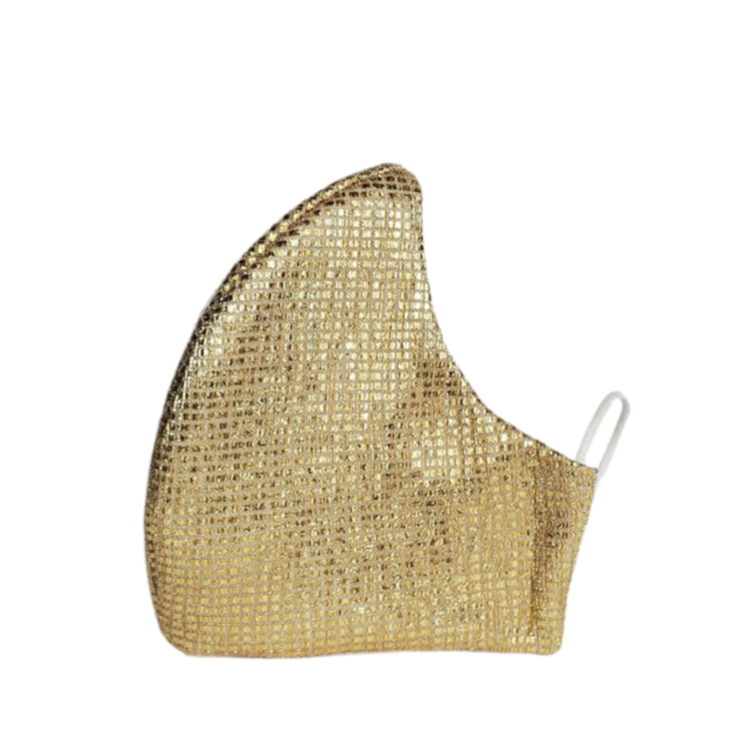 Glitter Face Mask: Gold