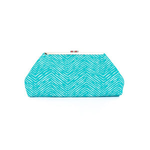 Jazz Clasp - Aquamarine Chevron Clutch