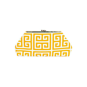 Jazz Clasp- Gold Maze Clutch
