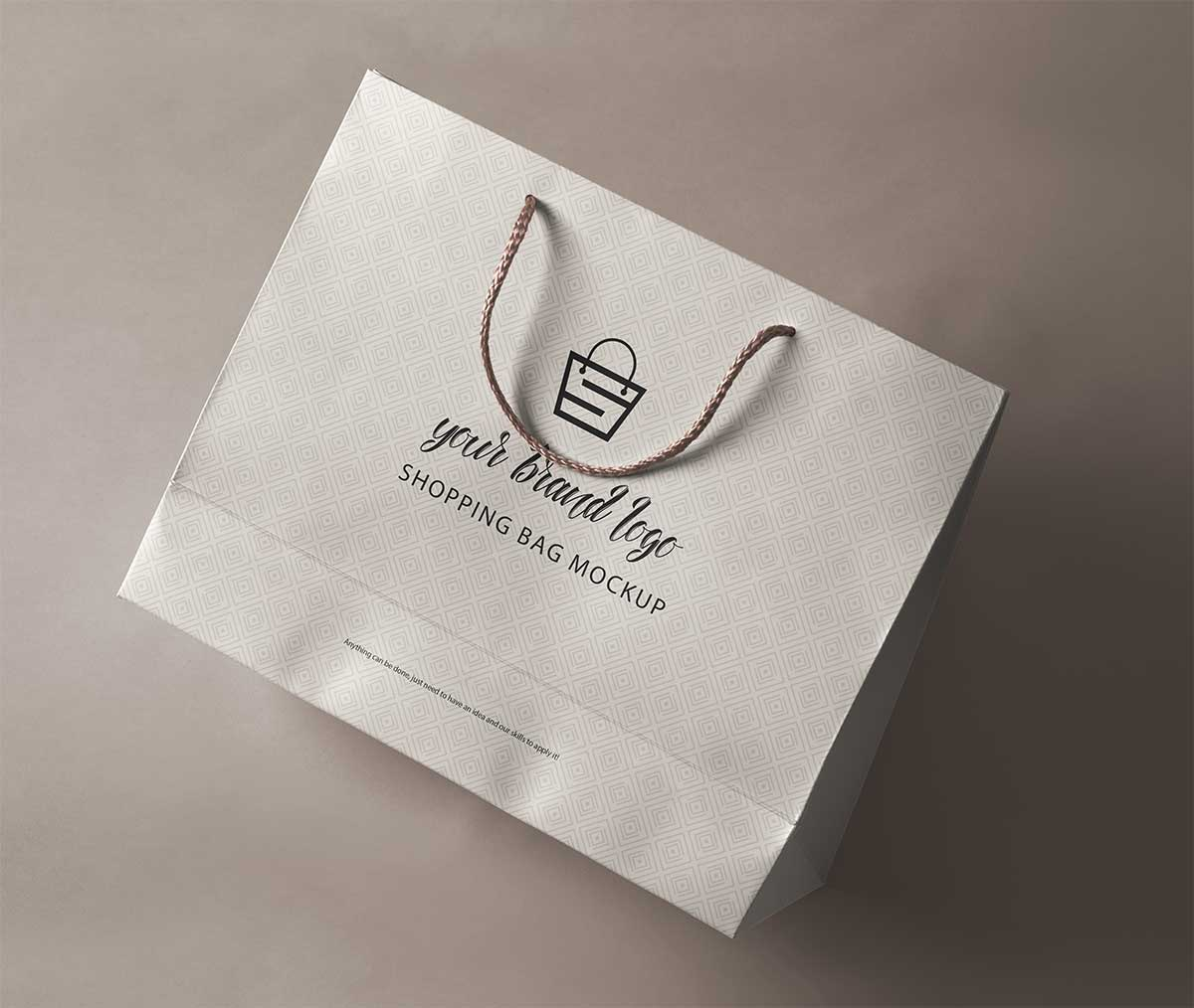 shopping bag mockup design