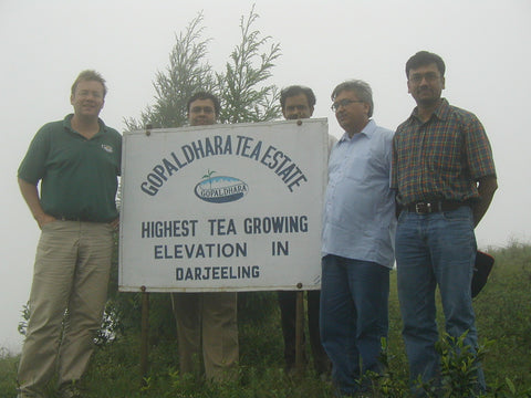 Gopaldhara Estate Sign with VMCT members