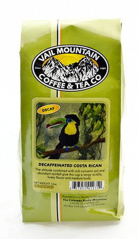 Decaffeinated Costa Rican European processed coffee bag