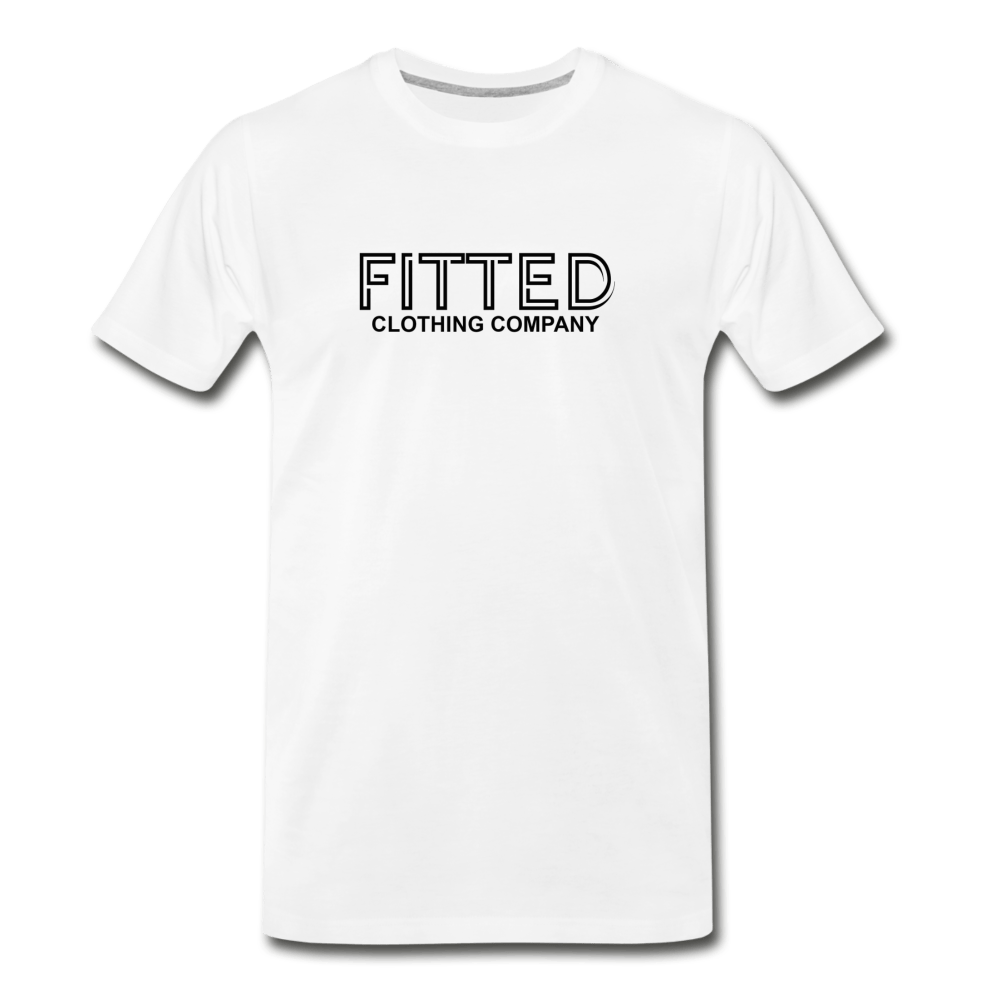 Fitted Clothing Co White Men's Premium T-Shirt - Fitted Clothing Company