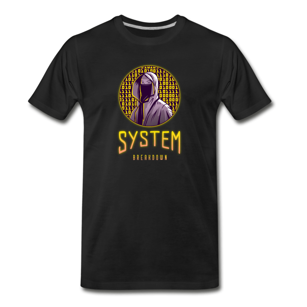 System Breakdown Men's Premium T-Shirt - Fitted Clothing Company