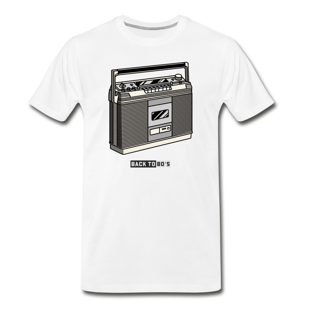 Back To The 80's Men's Premium T-Shirt - Fitted Clothing Company