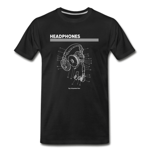 Headphones Men's Premium T-Shirt - Fitted Clothing Company