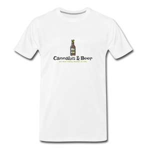 Cannabis & Beer Men's Premium T-Shirt - Fitted Clothing Company