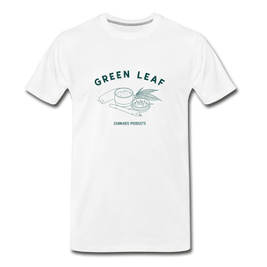 Green Leaf Men's Premium T-Shirt - Fitted Clothing Company