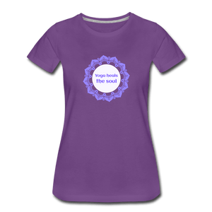 Yoga Heals Women's Premium T-Shirt - Fitted Clothing Company