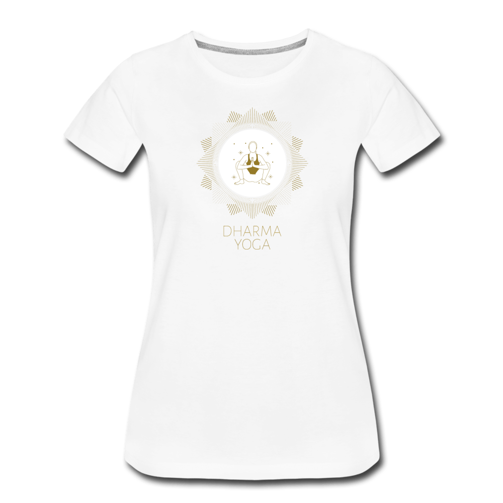 Dharma Yogo Women's Premium T-Shirt - Fitted Clothing Company
