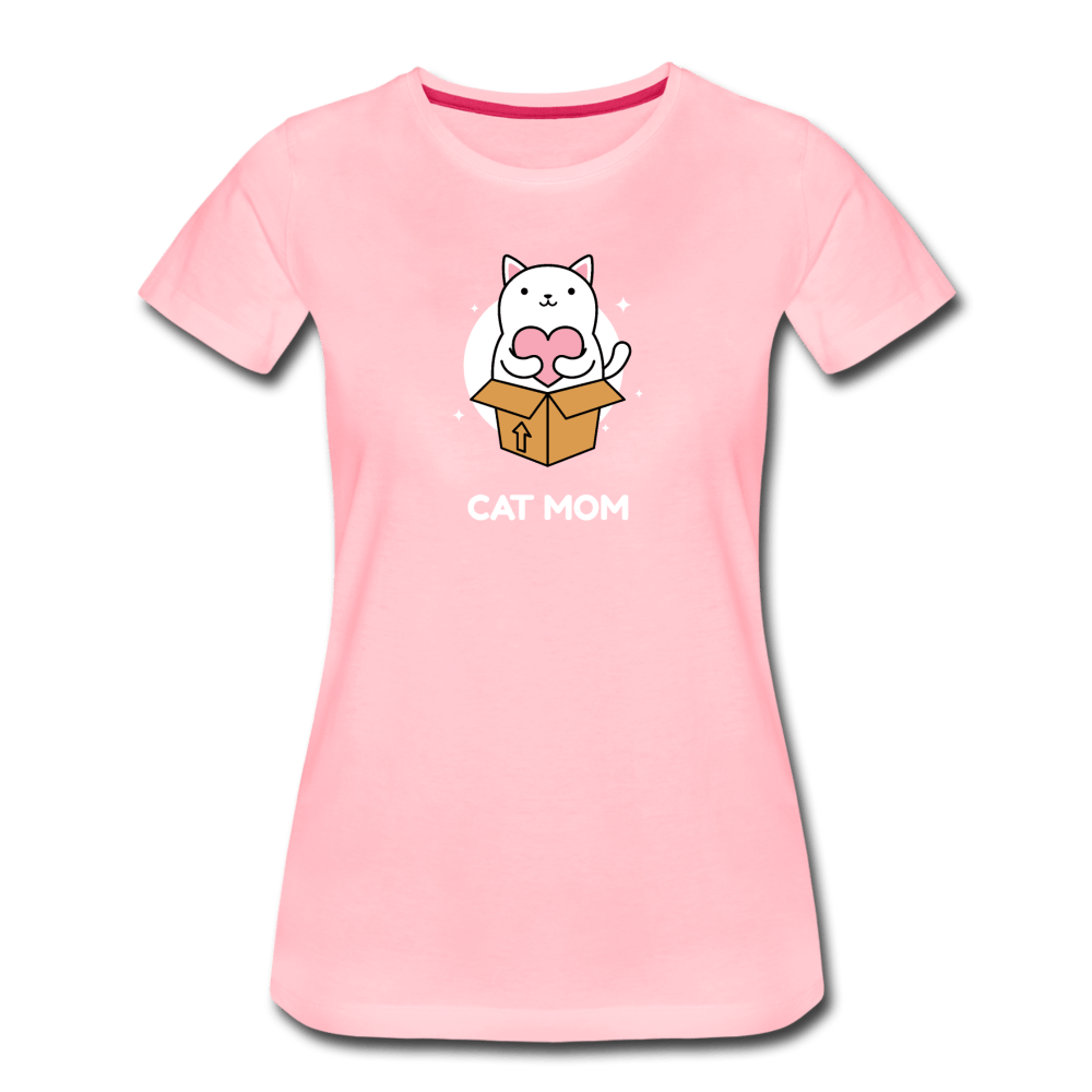 Cat Mom Women's Premium T-Shirt - Fitted Clothing Company