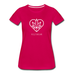 Vegetarian Women's Premium T-Shirt - Fitted Clothing Company
