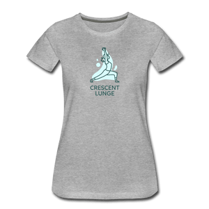 Crescent Lunge Women's Premium T-Shirt - Fitted Clothing Company