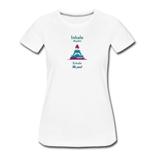 Inhale Women's Premium T-Shirt - Fitted Clothing Company