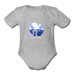 Waiting for Nap Time Organic Baby Onesie - Fitted Clothing Company