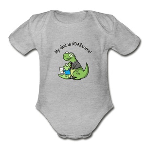 Roarsome Dad Organic Baby Onesie - Fitted Clothing Company