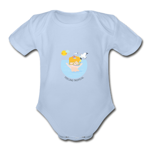 Feeling Tropical Organic Baby Onesie - Fitted Clothing Company