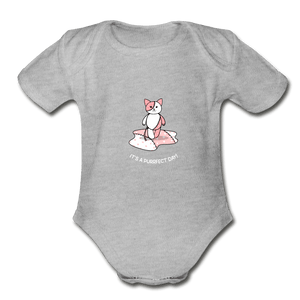 Purrfect Day Organic Baby Onesie - Fitted Clothing Company