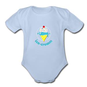Ice Cream Organic Baby Onesie - Fitted Clothing Company