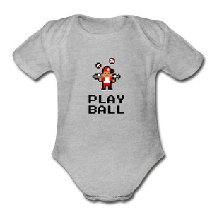Play Ball Organic Baby Onesie - Fitted Clothing Company