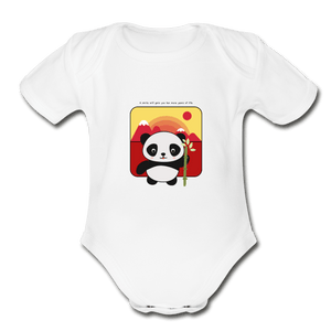Panda Organic Baby Onesie - Fitted Clothing Company