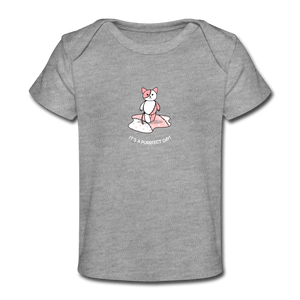Purrfect Day Organic Baby T-Shirt - Fitted Clothing Company