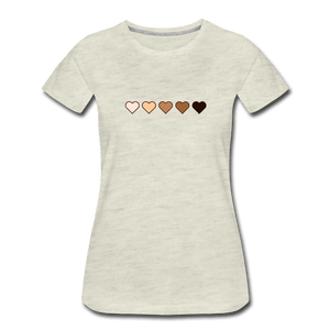 U Hearts Women's Premium T-Shirt - Fitted Clothing Company
