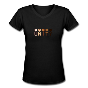 Unity Hearts Women's V-Neck T-Shirt - Fitted Clothing Company