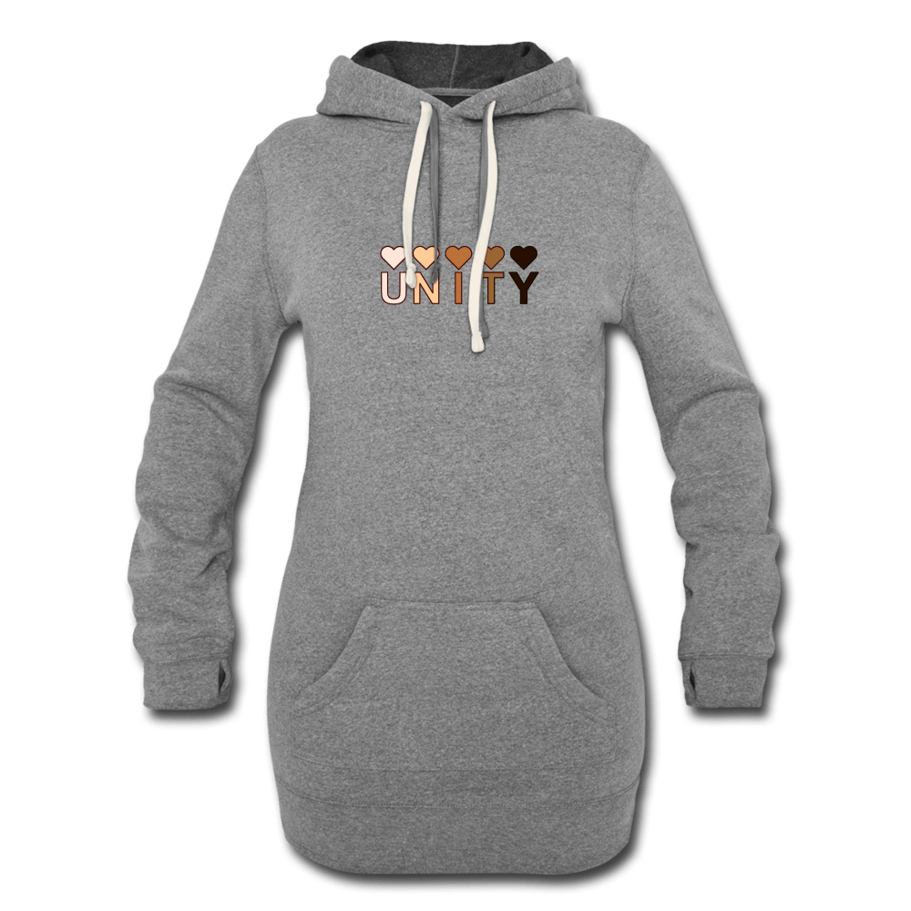Unity Hearts Women's Hoodie Dress - Fitted Clothing Company
