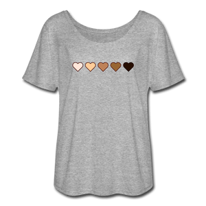 U Hearts Women's Flowy T-Shirt - Fitted Clothing Company