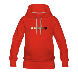 U Hearts Women's Premium Hoodie - Fitted Clothing Company