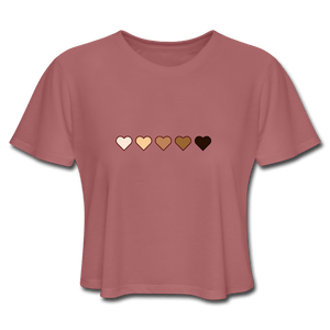 U Hearts Women's Cropped T-Shirt - Fitted Clothing Company