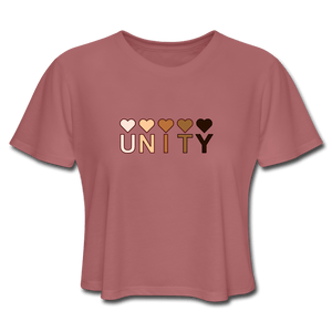 Unity Hearts Women's Cropped T-Shirt - Fitted Clothing Company