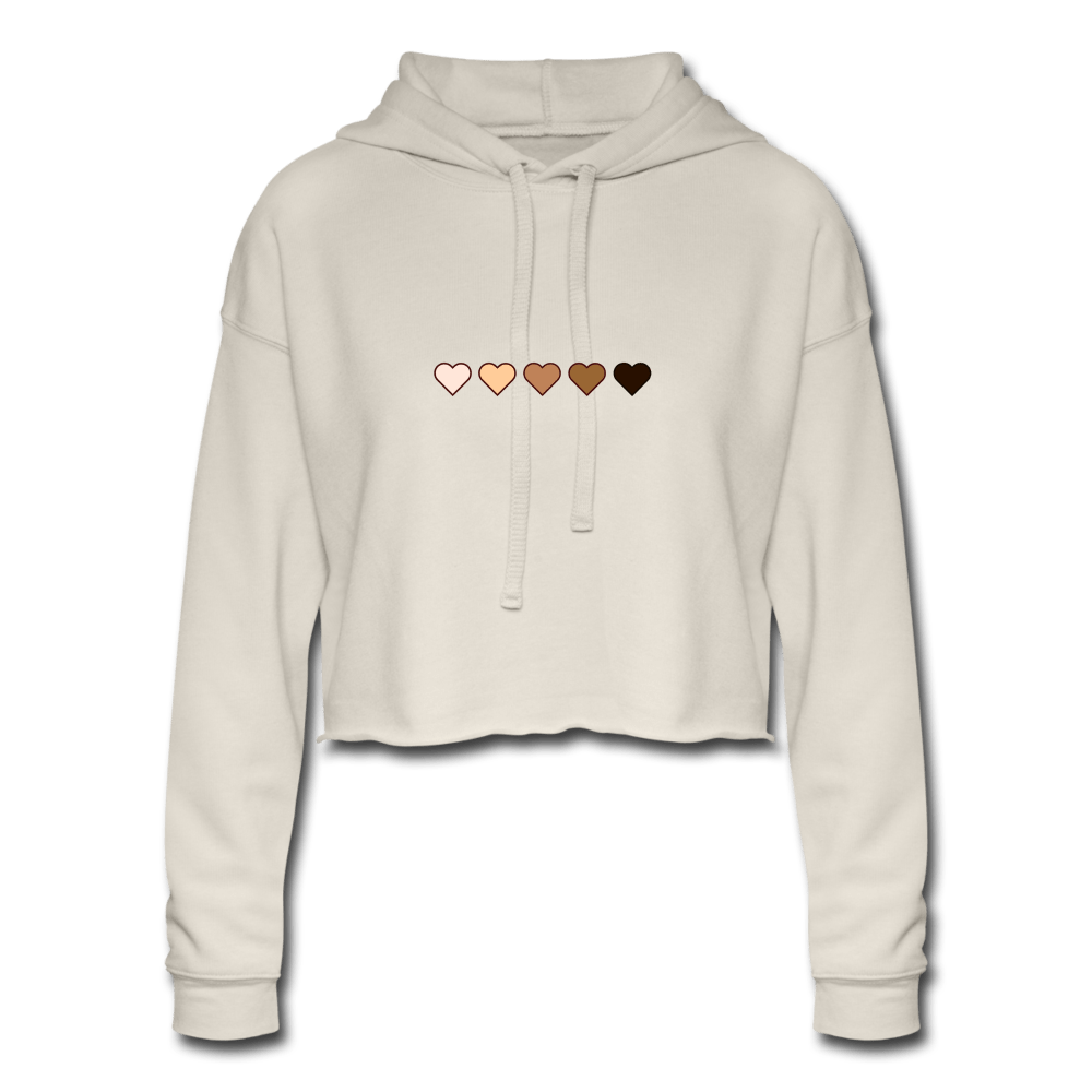 U Hearts Women's Cropped Hoodie - Fitted Clothing Company