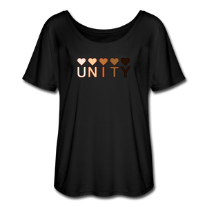 Unity Hearts Women's Flowy T-Shirt - Fitted Clothing Company