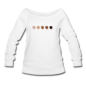U Fist Women's Wideneck Sweatshirt - white