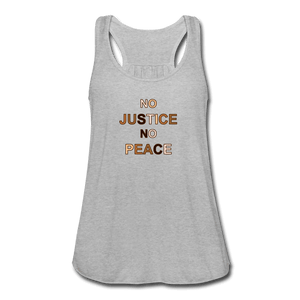 U NJNP Women's Flowy Tank Top by Bella - heather gray