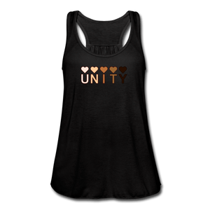 Unity Hearts Women's Flowy Tank Top by Bella - black