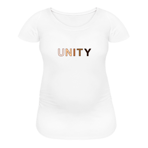 Unity Women's Maternity T-Shirt - white