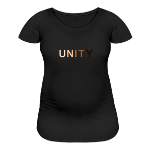 Unity Women's Maternity T-Shirt - black