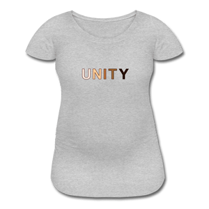 Unity Women's Maternity T-Shirt - heather gray