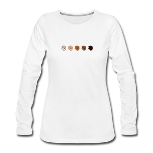 U Fist Women's Premium Long Sleeve T-Shirt - white